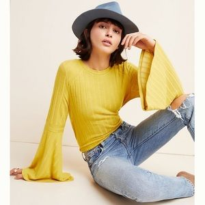 COMING SOON! Anthro Ribbed Bell Sleeve Pullover